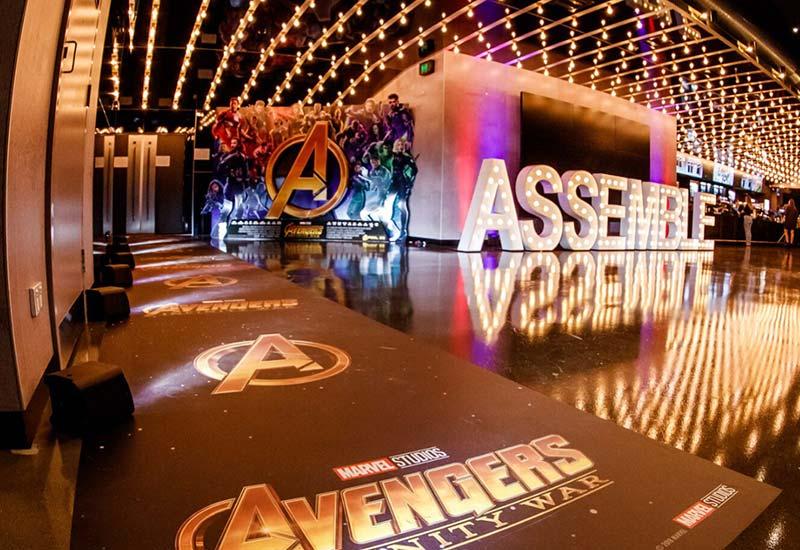 Light up letters 'ASSEMBLE'