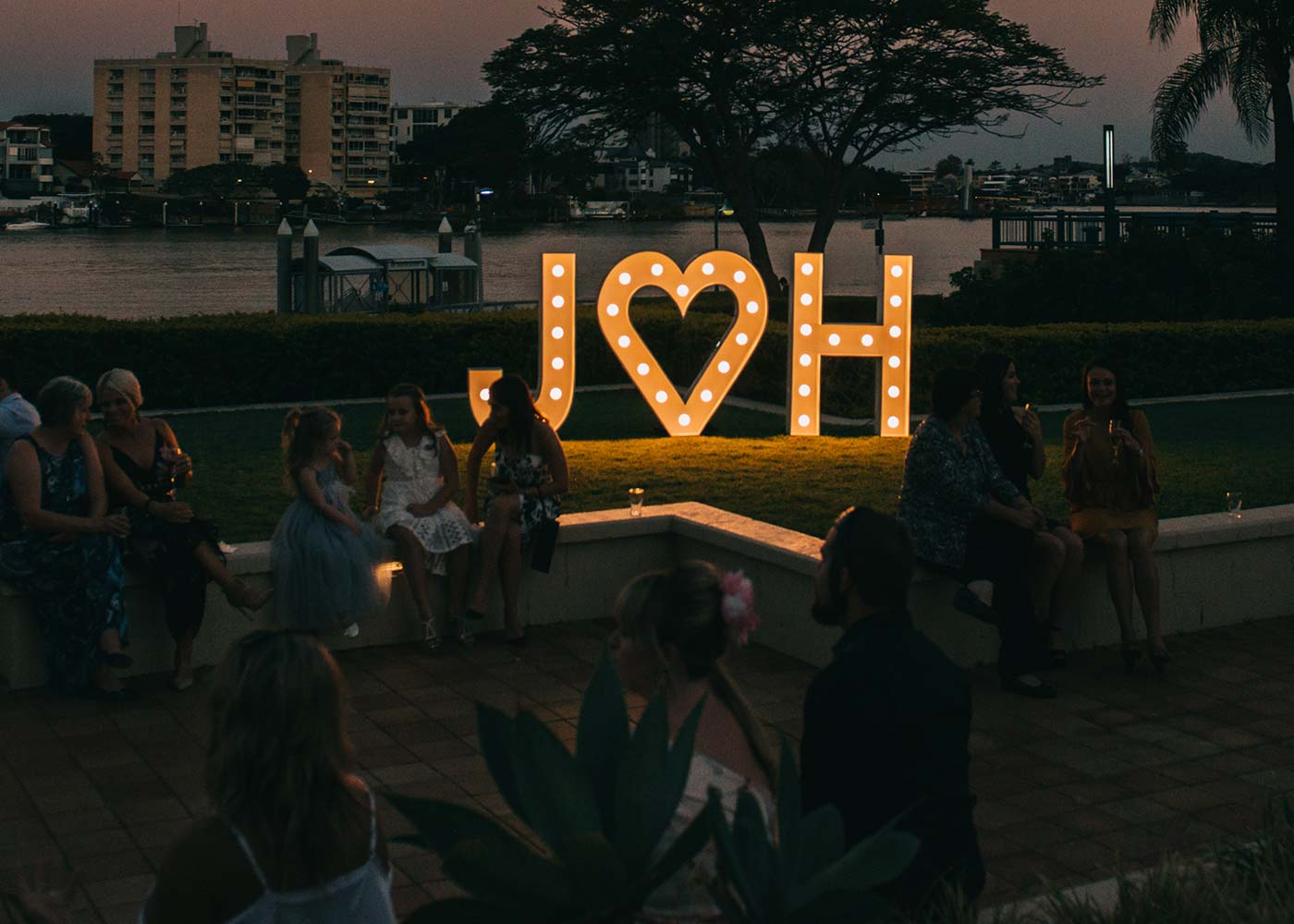 Light Up Letters 'J heart H'