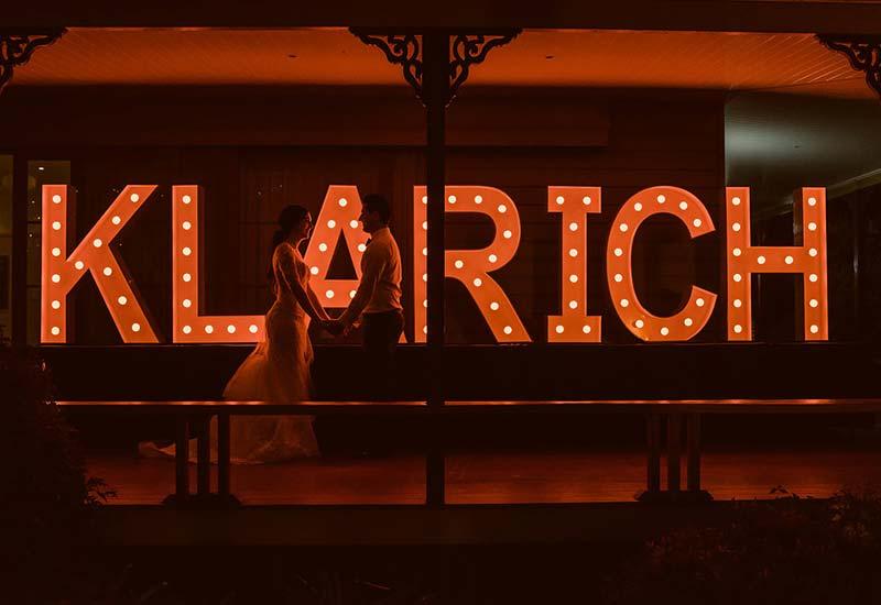 Light Up Letters 'KLARICH'