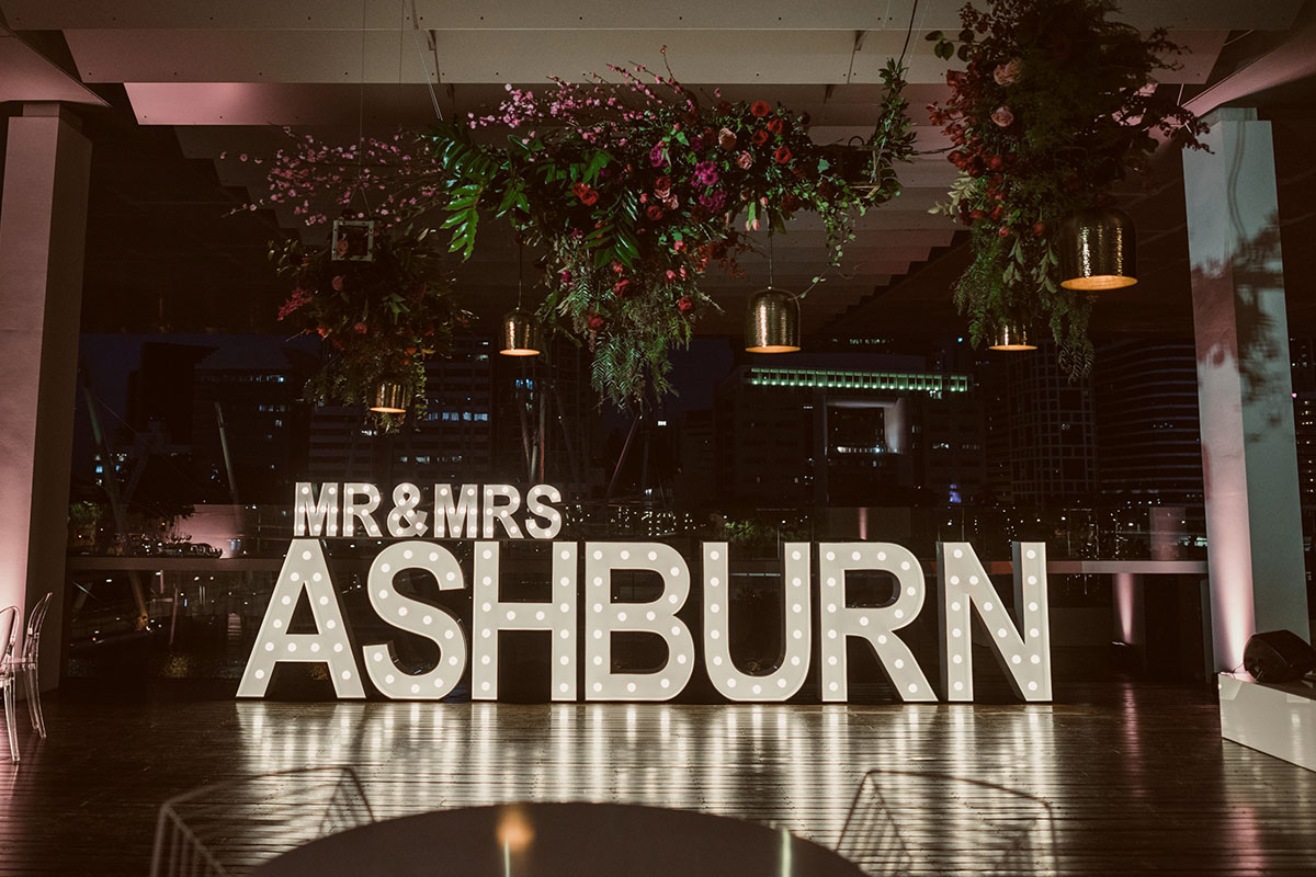 Light Up 'MR & MRS ASHBURN'