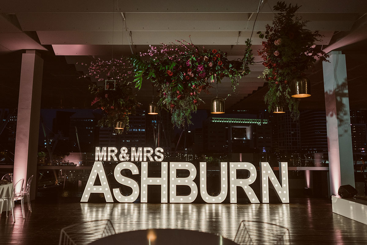 Light Up Wedding MR&MRS ASHBURN