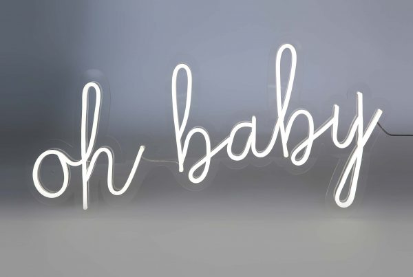 Neon 'oh baby'