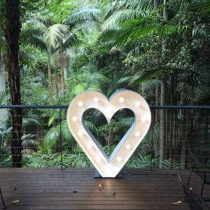 Light up love heart