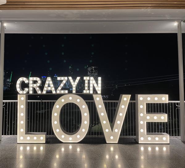 Light up letters for weddings