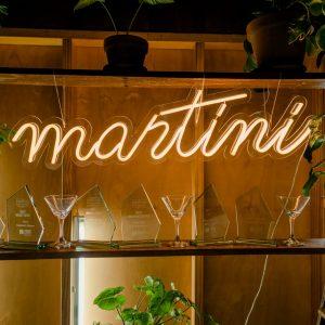 Neon 'martini'
