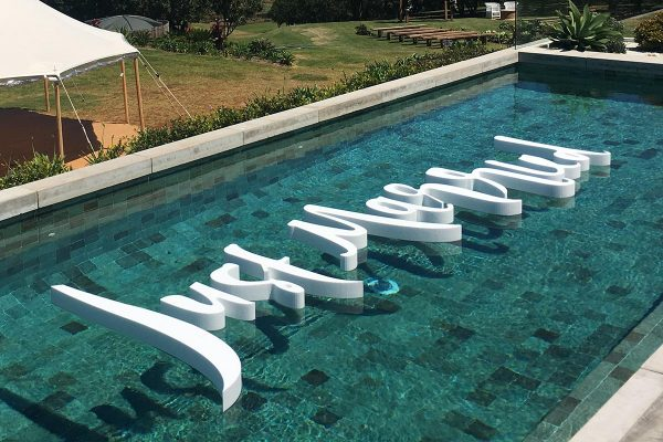 Just Married Floating Pool Letters